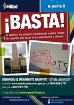Cartel contra el antisemitismo en Argentina
