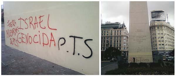 Graffittis en el Obelisco de Buenos Aires
