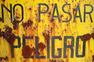 No pasar - Peligro